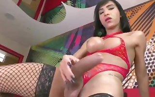 Asian Tgirl Showing Big Cock